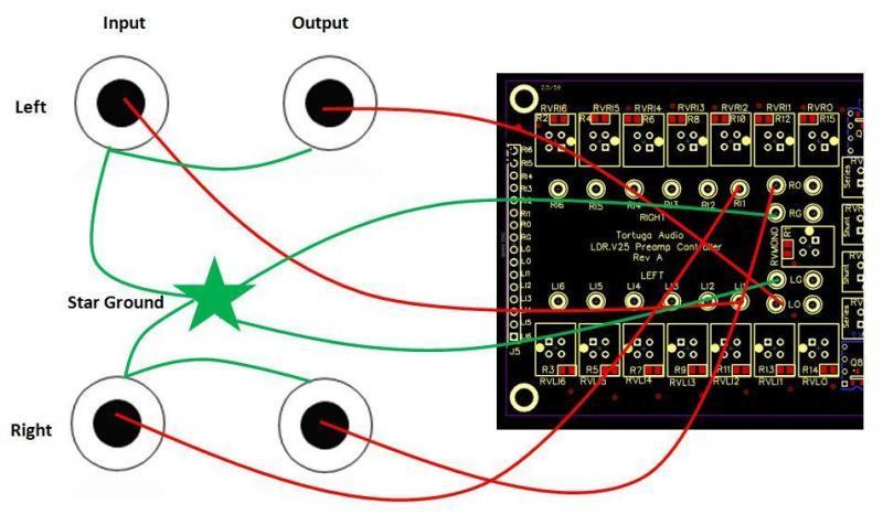 V25 preamp controller single-ended wiring diagram
