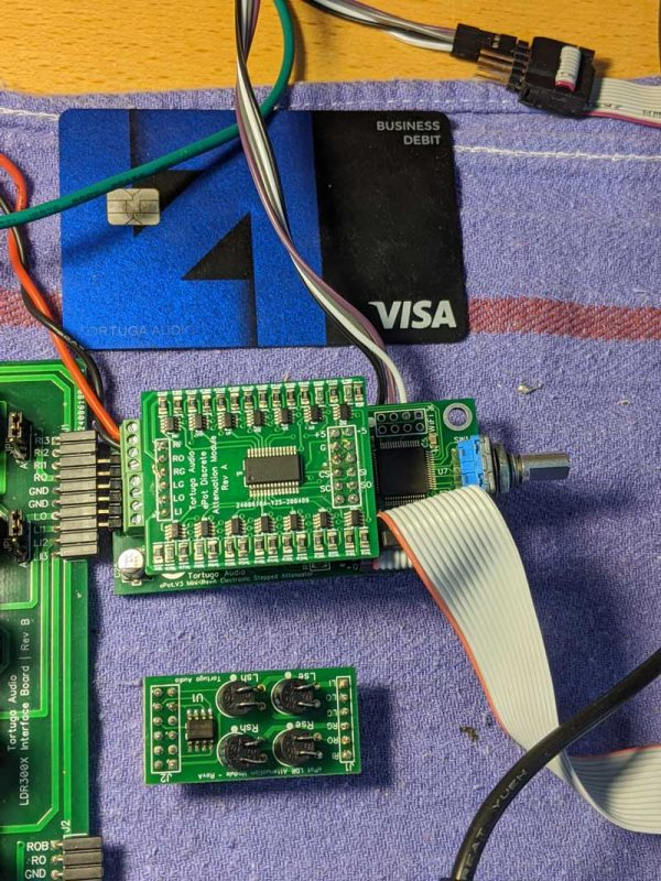 ePot.V3 electronic stepped attenuator smaller than a credit card