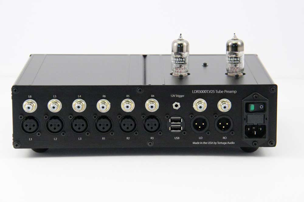 LDR3000T Tube Preamp - rear view